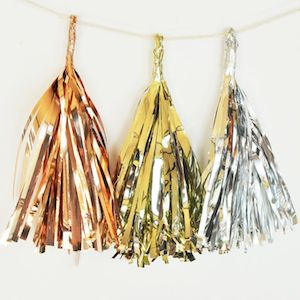 Metallic Mini Tassels (Set of 6) - pick your own color