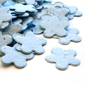 Five Petal Plantable Confetti - Blue - 350 Pieces