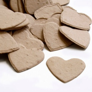 Heart Plantable Confetti - Latte Brown - 350 Pieces