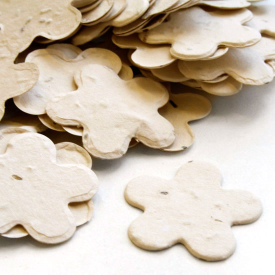 Five Petal Plantable Confetti - Cream - 350 Pieces