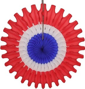"Patriotic Honeycomb 18"" Tissue Fan Decoration"