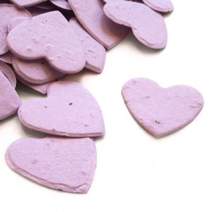 Heart Plantable Confetti - Lavender - 350 Pieces
