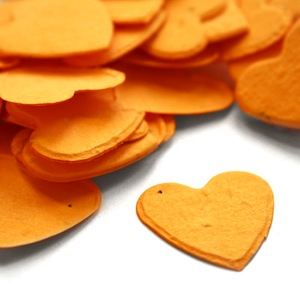 Heart Plantable Confetti - Marigold Yellow - 350 Pieces