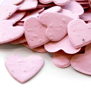 Heart Plantable Confetti - Pink - 350 Pieces
