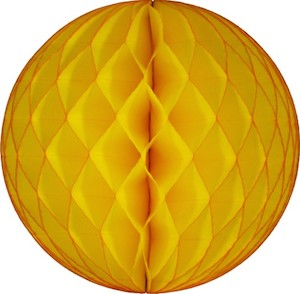 Gold Honeycomb Tissue Ball Decoration - Multiple Sizes Available