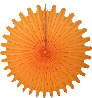 "Gold Honeycomb 18"" Tissue Fan Decoration"