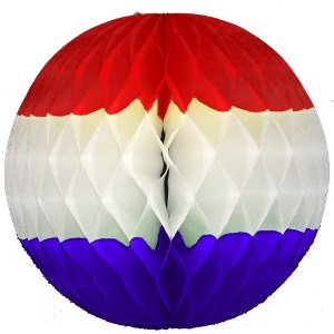 Patriotic Honeycomb Tissue Ball Decoration