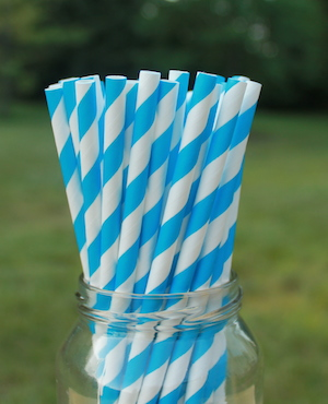 Eco-Friendly Paper Straws - Blue