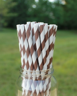 Eco-Friendly Paper Straws - Brown-out of stock