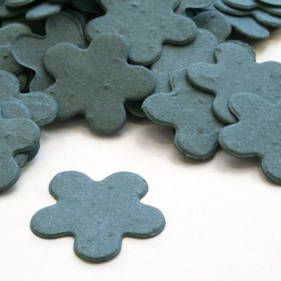 Five Petal Plantable Confetti - French Blue - 350 Pieces
