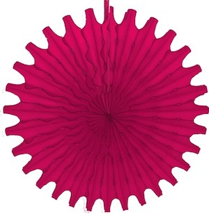 "Hot Pink Honeycomb 18"" Tissue Fan Decoration"
