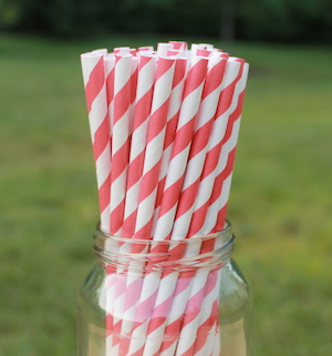 Eco-Friendly Paper Straws - Red