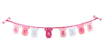 It's A Girl Banner-only 1 left in stock