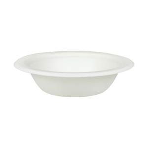 Compostable Bagasse 11.5 oz White Wide Bowl - Pack of 50