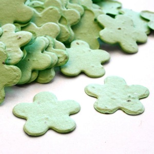 Five Petal Plantable Confetti - Green - 350 Pieces