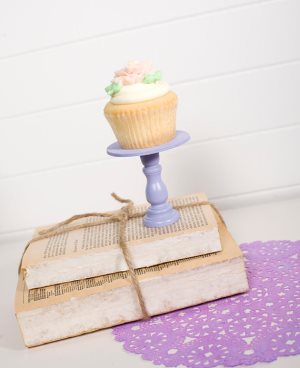 Mini Wooden Cupcake Stand - Light Purple