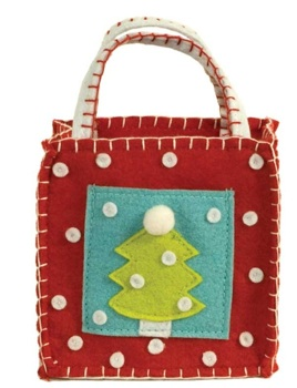 Groovy Christmas Tree Gift Card Goodie Bag