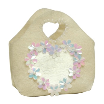 Groovy Heart & Sequin Felt Goodie Bag
