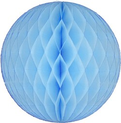 Light Blue Honeycomb Tissue Ball Decoration - Multiple Sizes Available