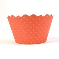 Bella Basics Recycled Linen Paper Cupcake Wrapper - Set of 12 - Citrus
