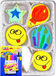 Birthday Fun Organic Color Your Own Cookie Gift Set