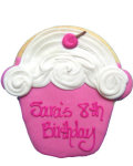 Pink Cupcake Party Favor Organic Cookie