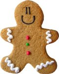 Gingerbread Man Party Favor Organic Cookie