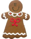 Gingerbread Woman Party Favor Organic Cookie