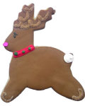 Raindeer Party Favor Organic Cookie