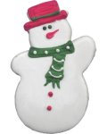 Snowman Party Favor Organic Cookie