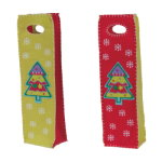 Groovy Christmas Tree Wine Felt Bags (set of 2)