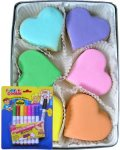Coloring Hearts Fun Color Your Own Cookie Gift Set