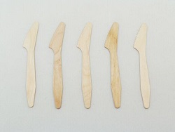 Compostable Wooden Knives - 7 inch - Pack Of 50