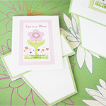 Flowers in Bloom Personalized Seed Packets with Flower Pot Card