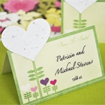 Please Be Seeded Heart Plantable Seed Place Cards (set of 12)