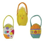 Groovy Easter Egg Felt Goodie Bags (set of 3)