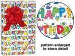 "HAPPY BIRTHDAY BRIGHT 24""x85' Recycled Paper Gift Wrap"