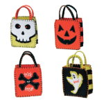 Halloween Felt Goodie Bags (set of 4)