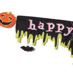 Happy Halloween Felt Banner-8 feet long