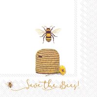 Save The Bees Lunch Napkin - 20 napkins per package