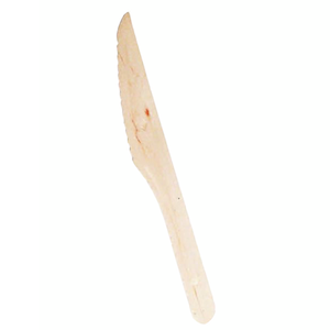 """Packnwood Disposable Wooden 6.5"""" Knives - Pack of 100"""