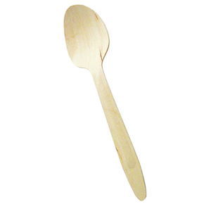 "Packnwood Disposable Wooden 6.5"" Spoons - Pack of 100"