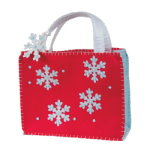 Snowflake Ornament Felt Gift Bag