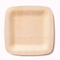 "Bamboo Veneerware 11"" Square Plates/Trays - Pack of 25"