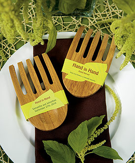 """Hand in Hand"" Bamboo Server Set - as low as $3.98"