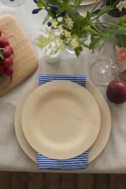 "Bambu All Occasion Veneerware 9"" Round Plate (Set of 25 per package)"