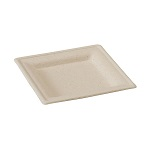 Square Brown Sugarcane Plate - 6 in. - Pack of 25