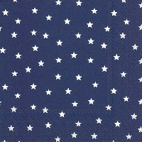 Little Stars Dark Blue Lunch Napkin - 20 napkins per package