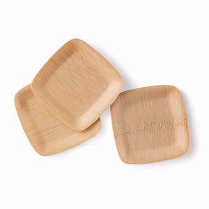 "Bamboo Appetizer/Tasting Veneerware 5"" Plates - Pack of 25"