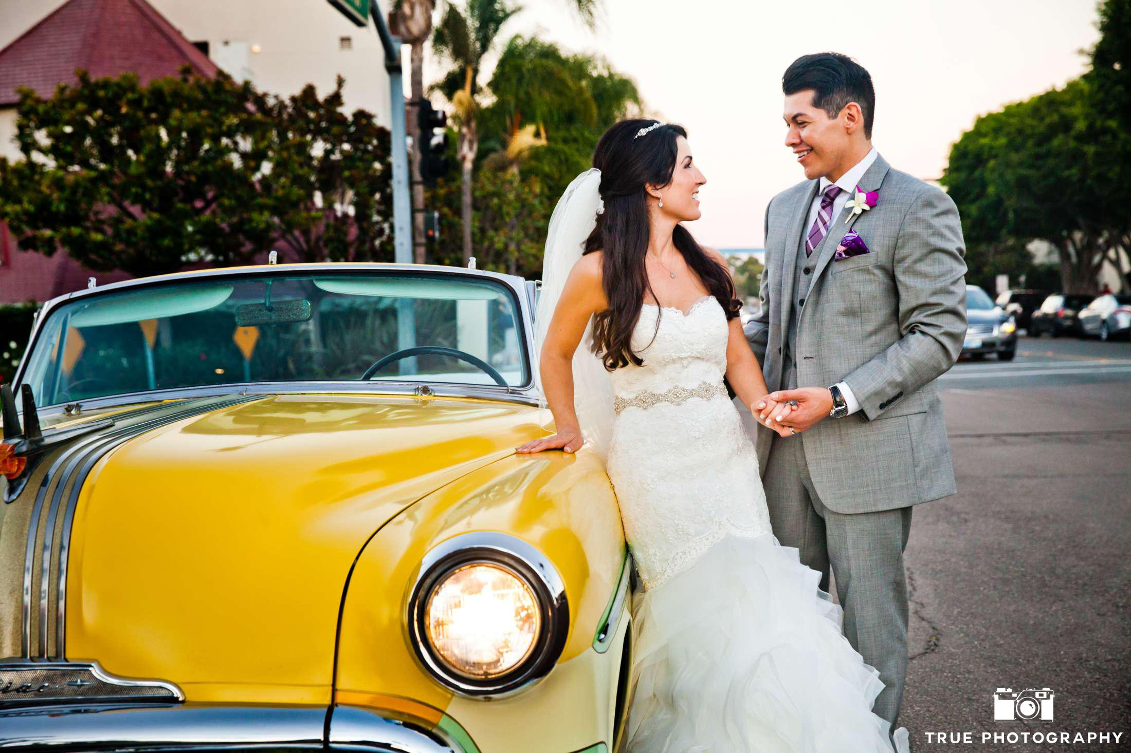 Citrus Wedding Yellow Car Photo Shoot